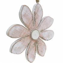 Flores decorativas pastel, flores de verano, flores de madera, adornos florales para colgar Ø12,5cm 3ud