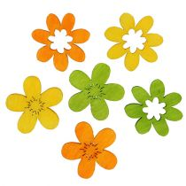 Decoración de arena de flores de madera 2cm colores surtidos 144St