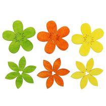 Flores de madera 4cm colores surtidos 72St