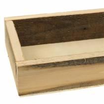 Bandeja de madera natural 37.5cm x 14.5cm H6.3cm