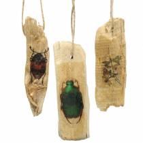 Insecto colgante decorativo de madera 9-13cm 36p