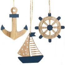 Percha de madera marítima 8.5-10cm 6pcs