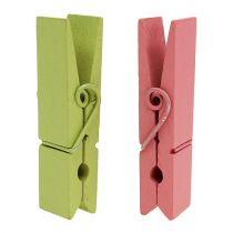 Clips de madera de colores 7,2cm 48pcs