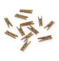 Pinzas decorativas de madera 3cm naturaleza 72pcs