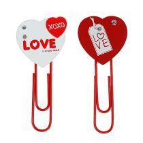 """Pinzas de madera corazón """"Amor"""" corazón decorativo regalo de San Valentín 2 piezas"""