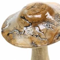 Seta de madera esmaltada natural / blanca Al.20cm