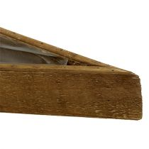 Cuenco de madera para plantar naturaleza 79cm x14cm x7,5cm