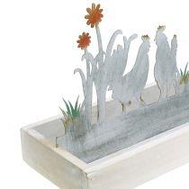Bandeja de madera Prado de primavera con grifos 43cm