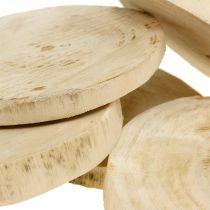 Discos de madera natural Ø11cm - 13cm 5pcs