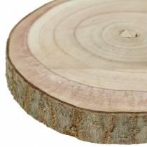 Rebanada de árbol campana azul naturaleza Ø20-30cm 1p