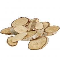 Rodajas de madera abedul ovalada 5cm - 20cm 500g