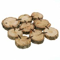 Posavasos decorativo, rodajas de madera, natural 22 × 22cm