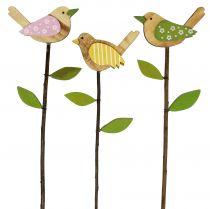 Alfiler de madera color pájaro L30cm 9pcs