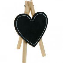 Tablero de madera, decoración de boda, corazón de tablero de tiza, decoración de San Valentín, tablero de decoración 6 piezas