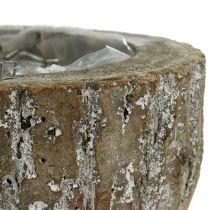 Macetero de madera blanco lavado Ø20cm H10cm