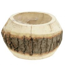 Maceta de madera para plantar naturaleza Ø14cm