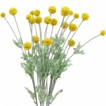 Palillo Amarillo Artificial Craspedia Silk Flowers