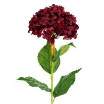 Hortensia artificial rojo oscuro 80cm 1p