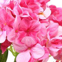 Hortensia grande artificial rosa L110cm