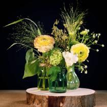 Florero de vidrio Farmer Silver Green H11cm 6pcs