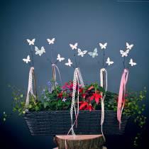 Deco pegatina mariposa H43cm 6pcs