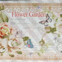 Jardinera jardinera con asas metal decoración de verano 23 × 14 × 11cm