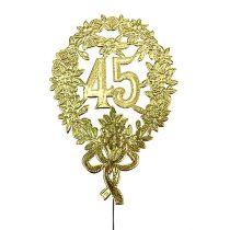 Aniversario números Oro