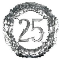 Aniversario número 25 en plata Ø40cm