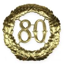 Aniversario número 80 en oro Ø40cm