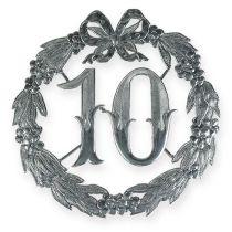 Aniversario número 10 en plata