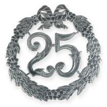 Aniversario número 25 en plata
