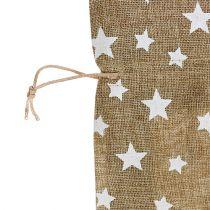 Saco de arpillera con estrellas 23cm x 23cm H35cm naturaleza