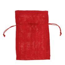 Sacos de yute rojo 16cm x 24cm 10pcs