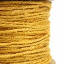 Cordón de yute amarillo Ø2mm 50m