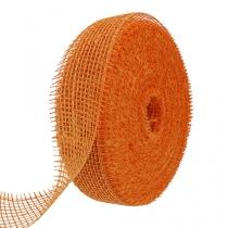 Cinta de yute naranja claro 5cm 40m