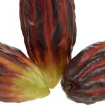 Escaparate de decoración artificial de frutas de cacao púrpura-verde 17cm 3pcs