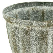 Cubilete aspecto antiguo gris Ø9cm H12.6cm