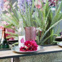 Vela taza, taza de vidrio, linterna, decoración de vidrio Ø10cm H18.5cm