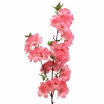 Rama de cerezo rosa artificial 103cm