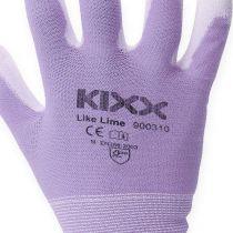 Kixx guantes de jardinería blanco, lila talla 8