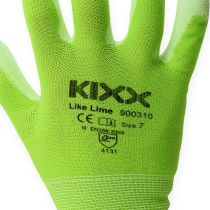 Guantes de jardinería de nylon Kixx talla 8 verde claro, lima