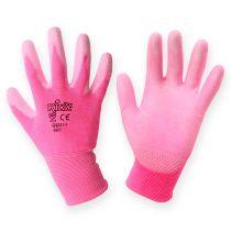 Guantes de jardinería Kixx talla 8 rosa, rosa