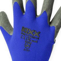 Guantes de jardinería de nailon kixx talla 8 azul, negro