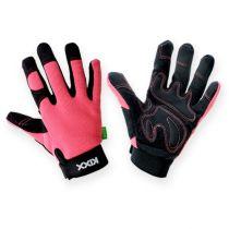 Guantes sintéticos Kixx talla 7 rosa, negro