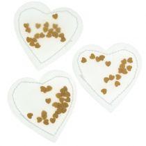 Confeti Corazón Oro 5cm 24pcs