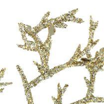 Rama de coral con mica oro claro 3 piezas