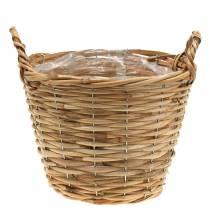 Cesta cesta de mimbre con asas Ø30cm altura 22cm para plantar