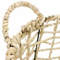 Cesta de mimbre de algas marinas, cesta decorativa, cesta de almacenamiento, cesta asa redonda Ø36 / 28 juego de 2
