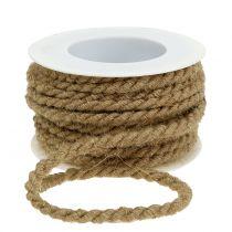Cordón de yute natural Ø6mm 9m