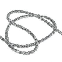 Cinta de cordón plata 4mm 25m